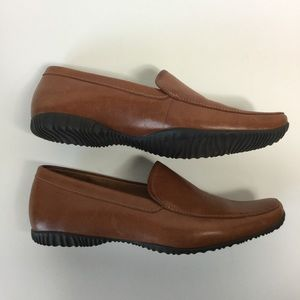 Timberland Leather Shoes Slip On Loafer Tan 7.5 M